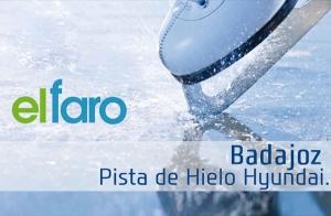 Pista de patinaje sobre Hielo en Badajoz