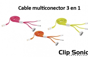 Cable USB Multiconcector 3 en 1